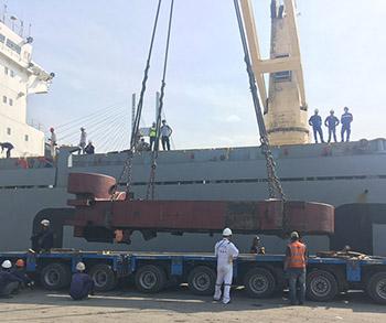 Vận chuyển Khung máy cán nguội từ Trung Quốc – Lotus Port – KCN Sóng Thần 3
