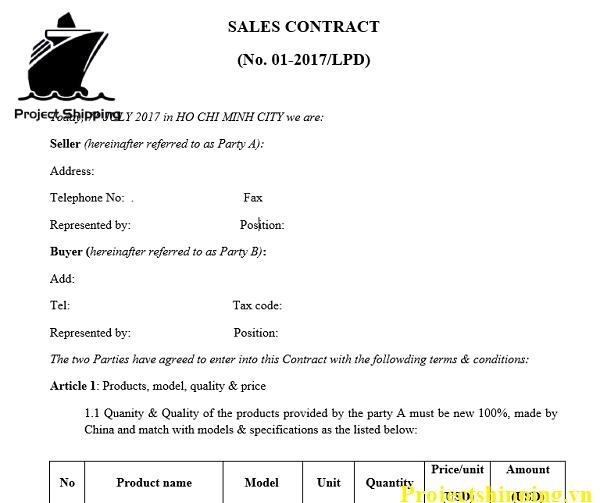 Cách soạn hợp đồng thương mại (Commercial contract)